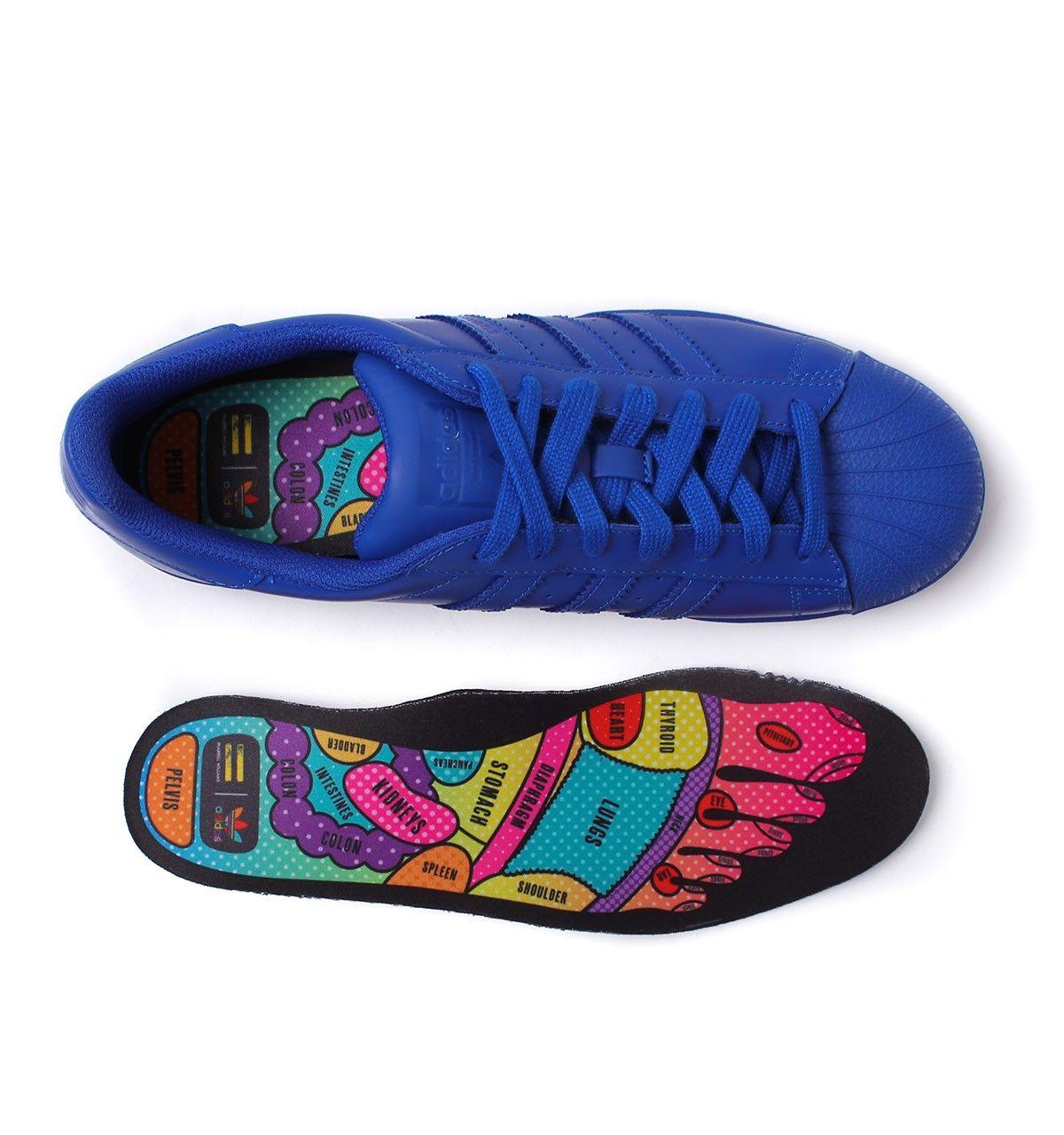 a1f7b42b2 Adidas Originals x Pharrell Williams Supercolor Bold Blue Superstar Trainers