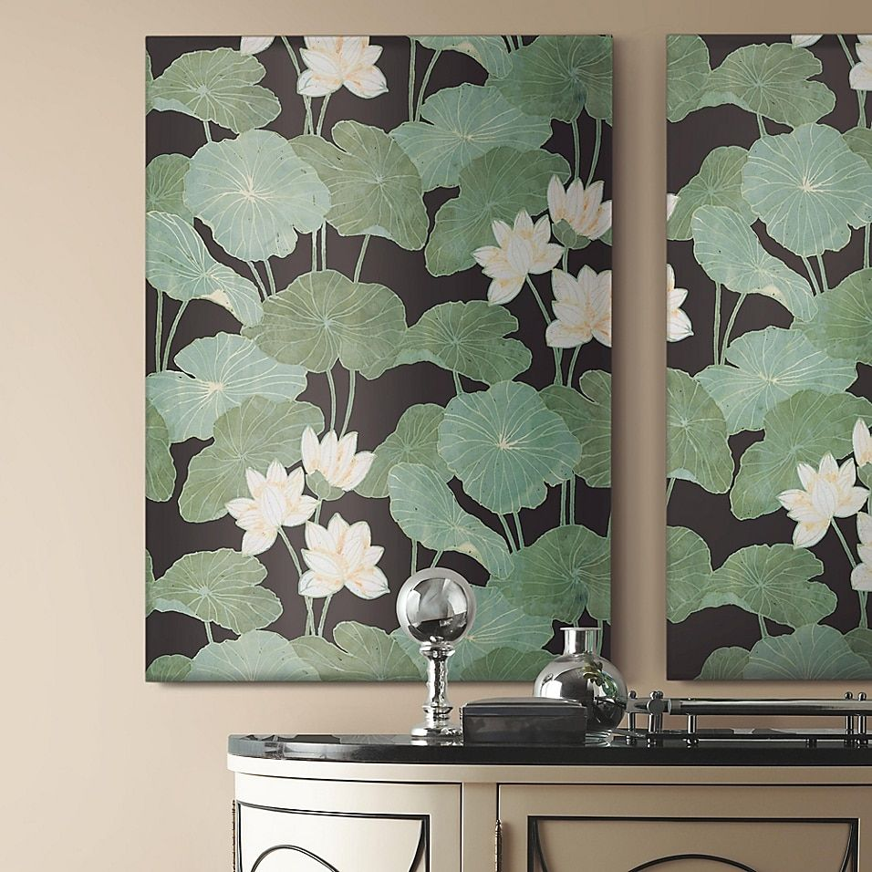 Roommates Lily Pad Peel Stick Wallpaper Bed Bath Beyond In 2020 Peel And Stick Wallpaper Green Wallpaper Wallpaper Roll