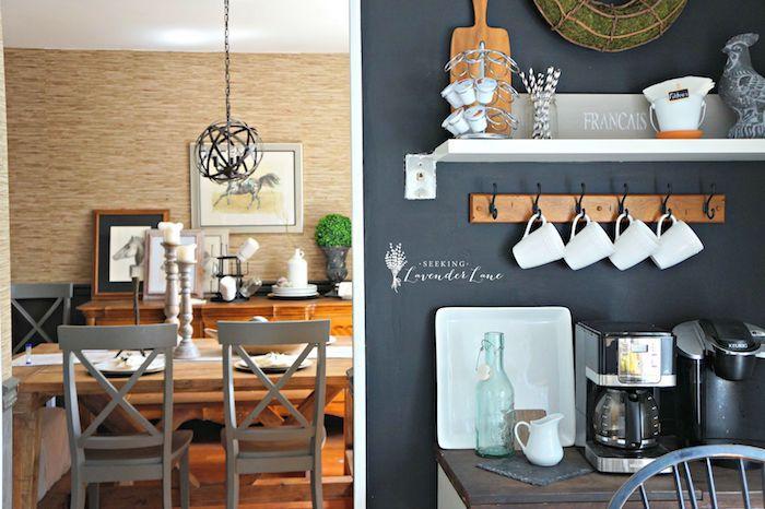 eine Tafelfolie in der Küche, sehr gemütliches Ambiente mit schöner - wohnzimmer grau magenta