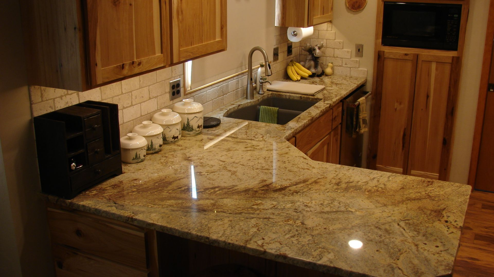 3cm Typhoon Bordeaux Granite with Composite Granite sink by Blanco ...