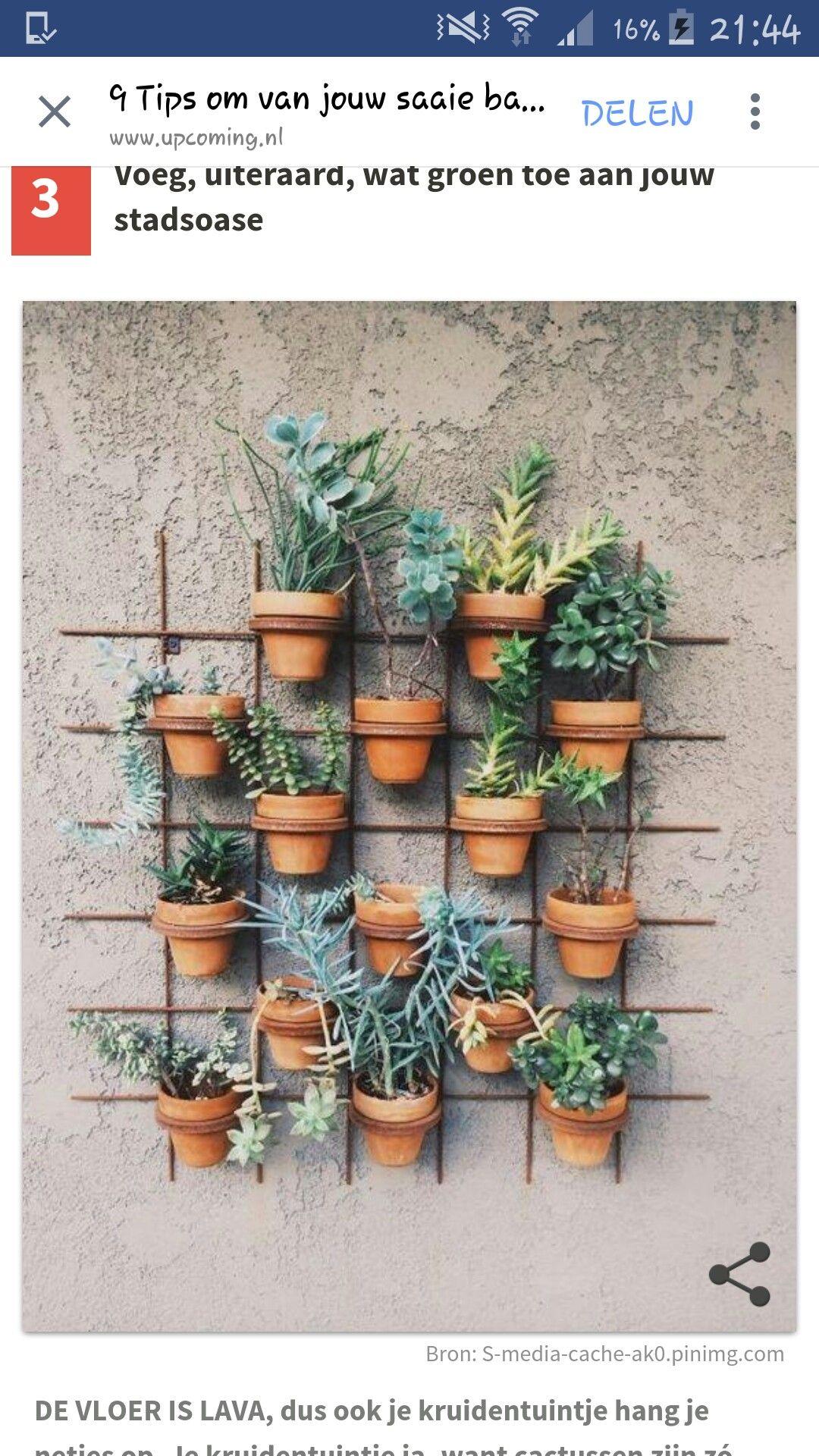Tolle Idee Für Den Balkon Oder Garten L Terrakotta Töpfe Wand L Mediterran  L Urlaubsfeeling Pur