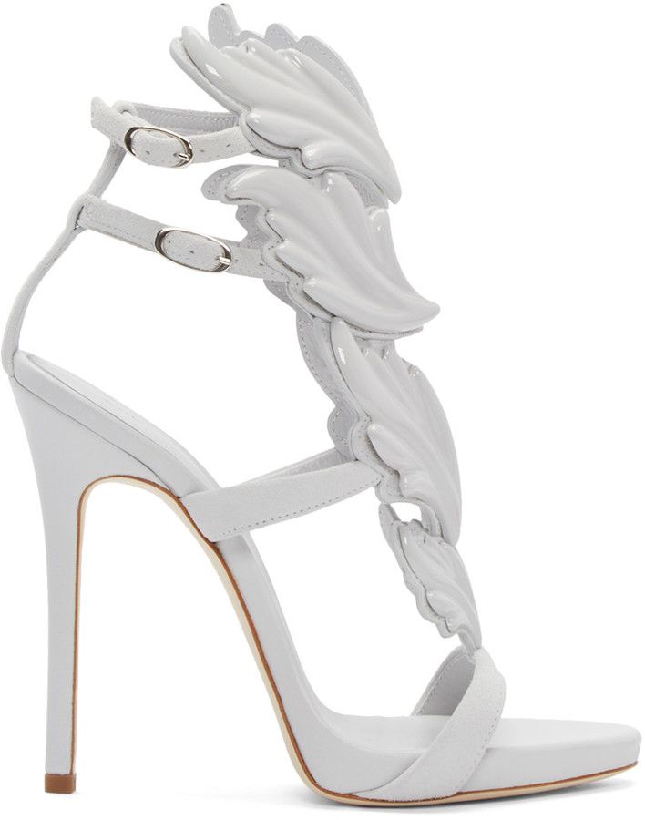 Giuseppe Zanotti Grey Suede Heels 3P0cr8Ic