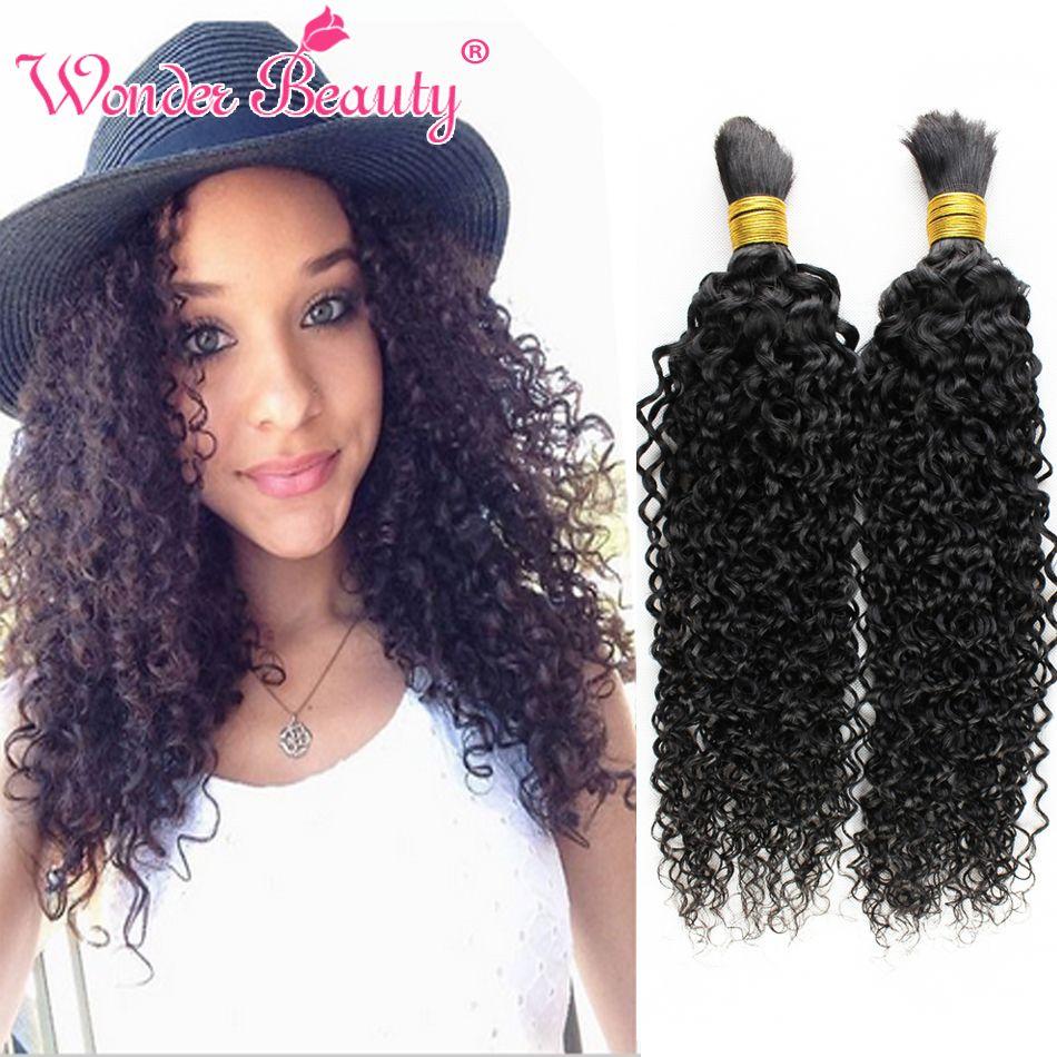 Top Quality Malaysian Virgin Hair 4 Bundles 100 Human Braids Bulk Curly No Weft Wet And Wavy Braid