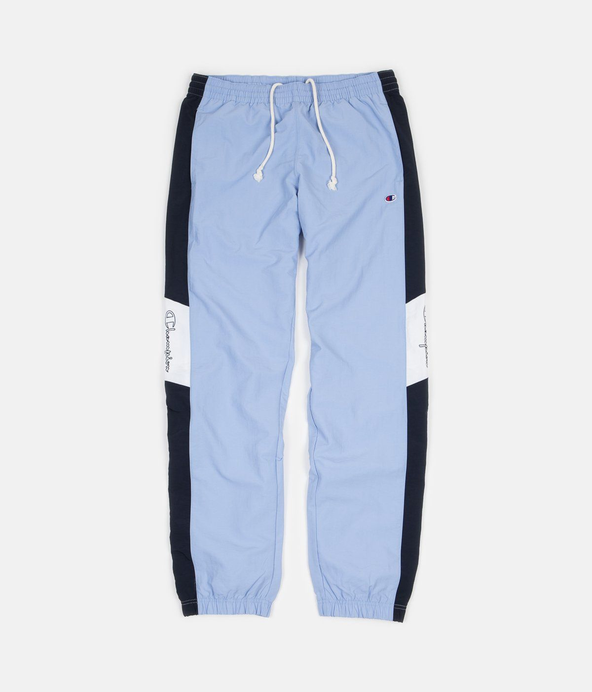 3ee483643d1a Champion Elastic Cuff Tracksuit Sweatpants - Light Blue   Navy   White