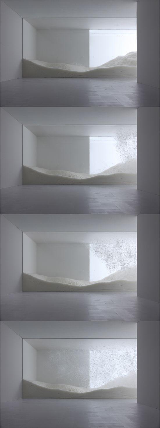 tokujin yoshioka for sensing nature exhibition is part of Installation art - tokujin yoshioka for 'sensing nature' exhibition Natureart Snow