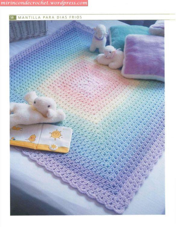 El gran libro del tejido crochet Bebes_09 | Mantas | Pinterest ...
