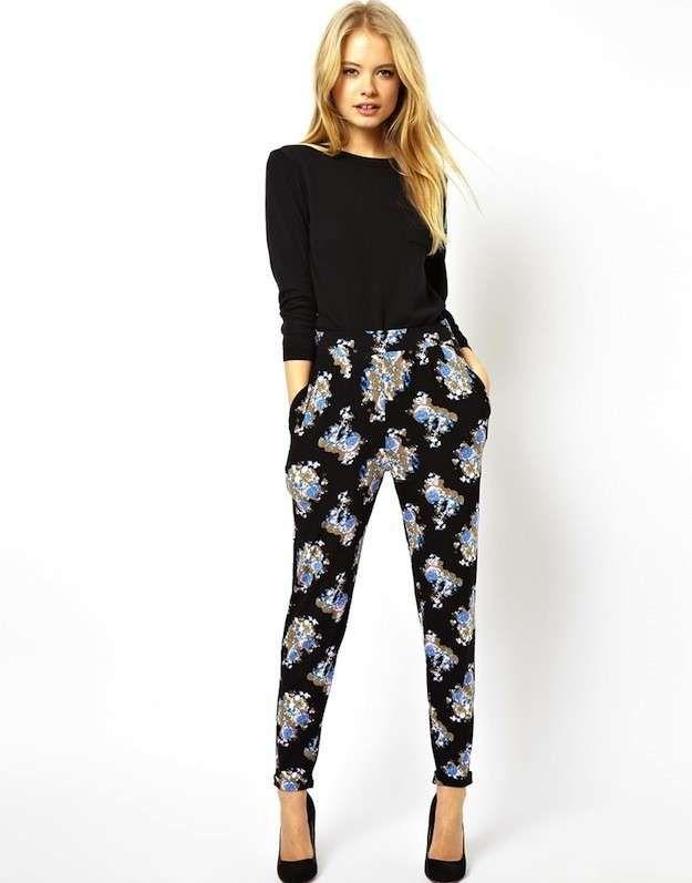 Como Conjuntar Los Pantalones Anchos Palazzo Y Baggy Pants Fotos De Los Modelos 12 X2f 44 Ellah Ropa Pantalones Floreados Pantalones Estampados Outfits