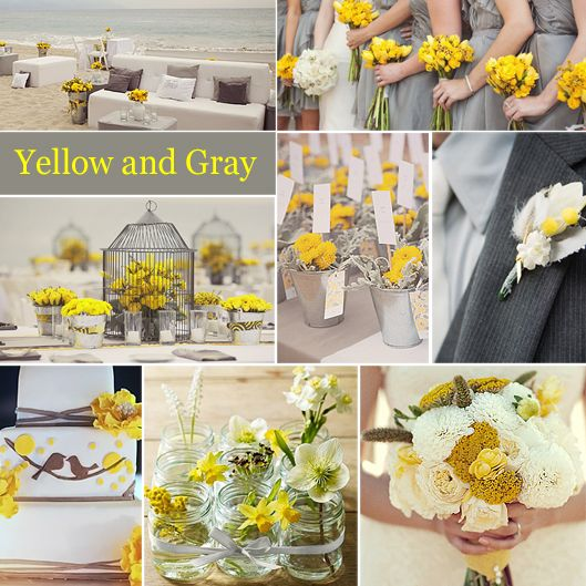 Beautiful Grey And Yellow Wedding Colors Photos - Styles & Ideas ...