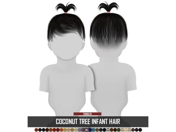COCONUT TREE INFANT HAIR – The Sims 4 Download – SimsDom ...