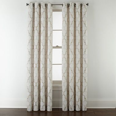 Casey Jacquard Grommet Top Curtain Panel