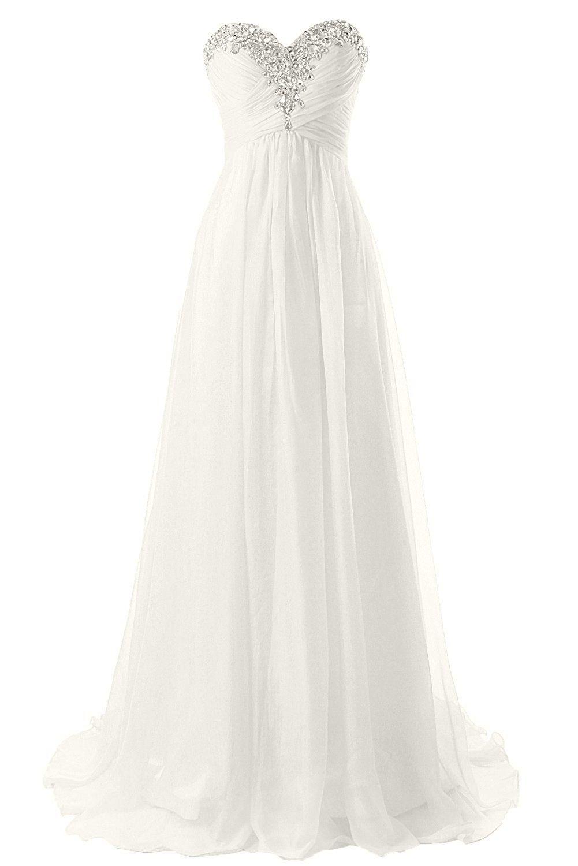 01b633f0ac JAEDEN Strapless Beach Wedding Dresses Simple Bride Dress Chiffon Gown ***  For more information, visit now : Wedding Dresses