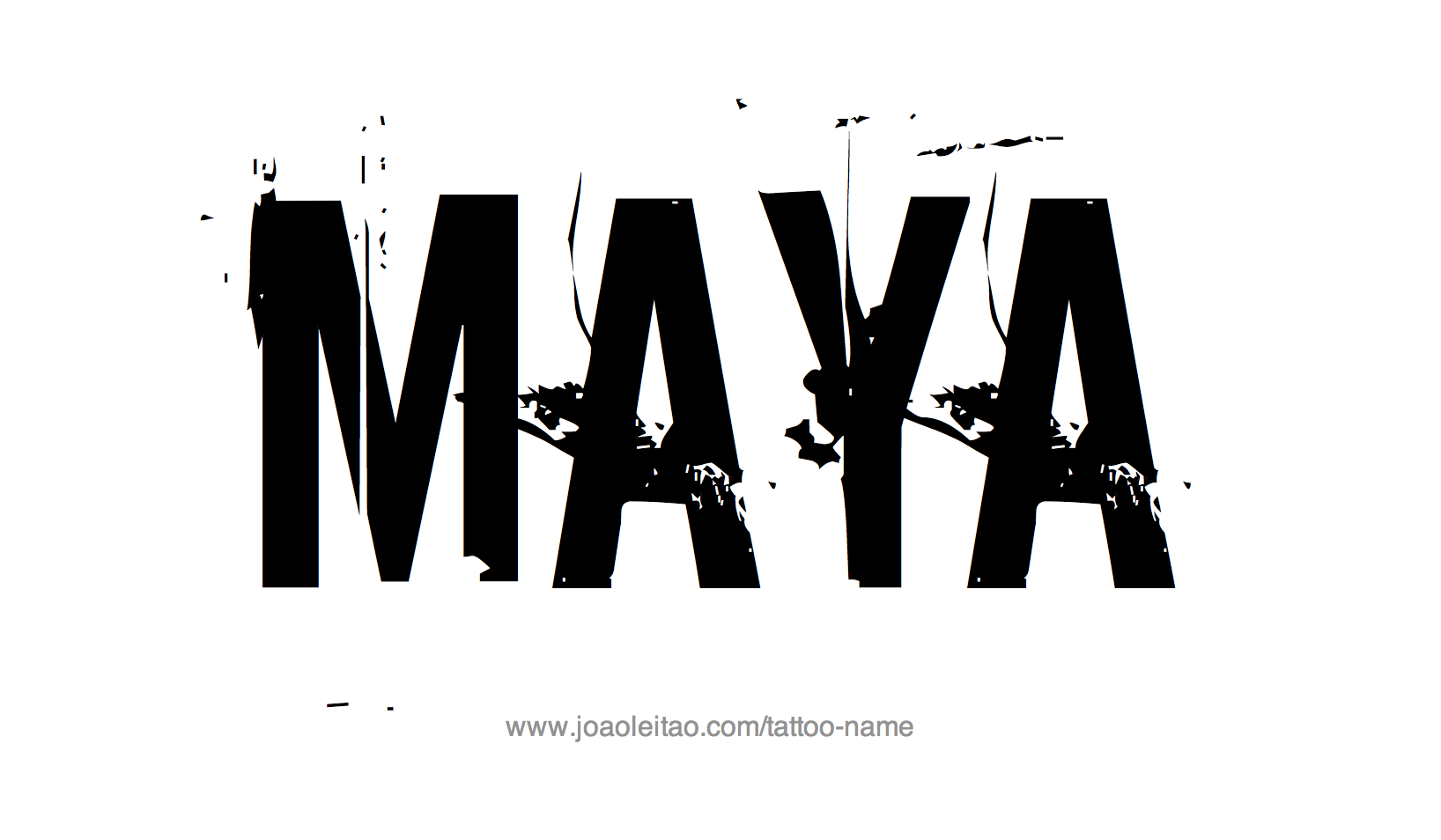 Nice name tattoo designs - Tattoo Design Name Maya