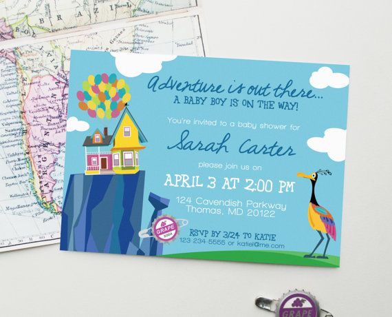 Design Fee Up Baby Shower Invitation Inspired By Disney Pixar