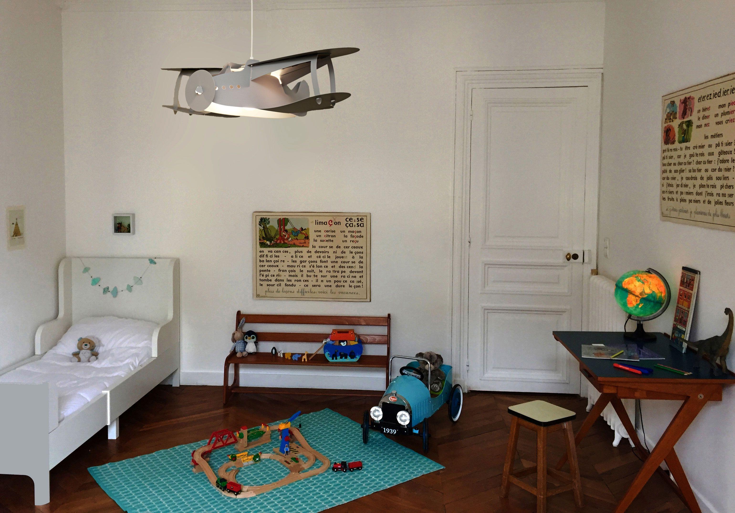 Lampe Suspension Enfant Avion Gris Avec Images Lampe
