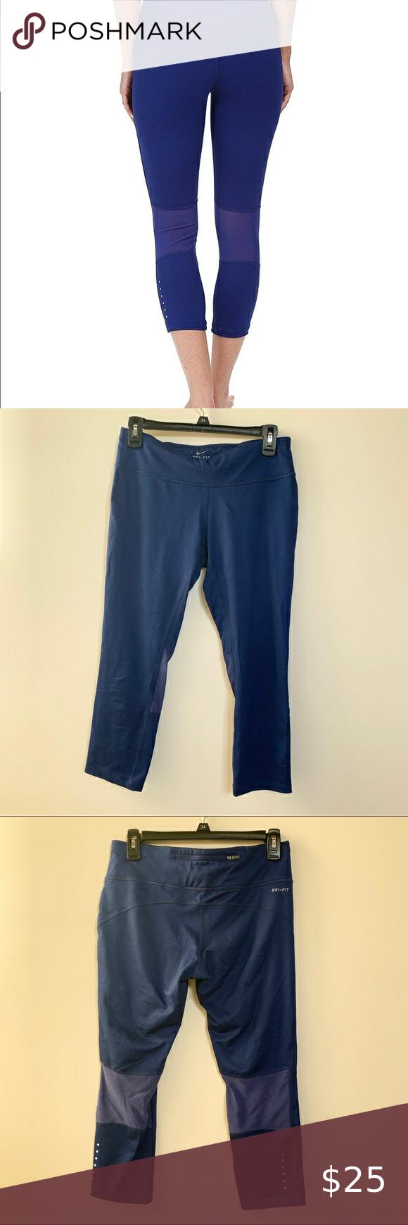 Nike Dri Fit Capri Legging Blue | Pants for women, Capri ...