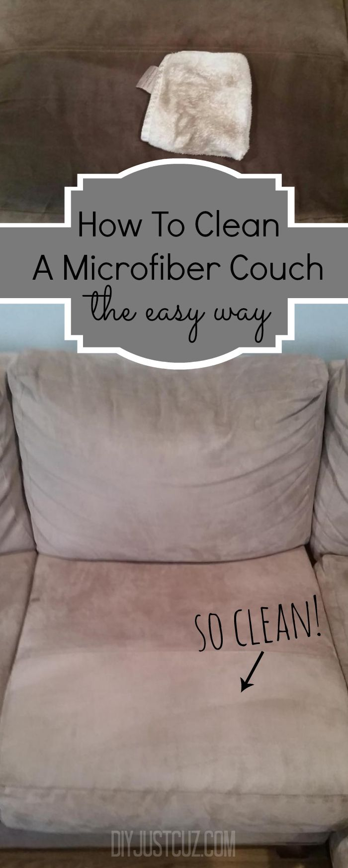 how to get water stains out of microfiber couch