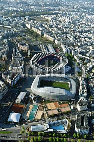 Paris 75 Vue Aerienne Du Nouveau Stade Jean Bouin Et Du Parc Des Princes Stade Jean Bouin Olympique De Marseille Stade