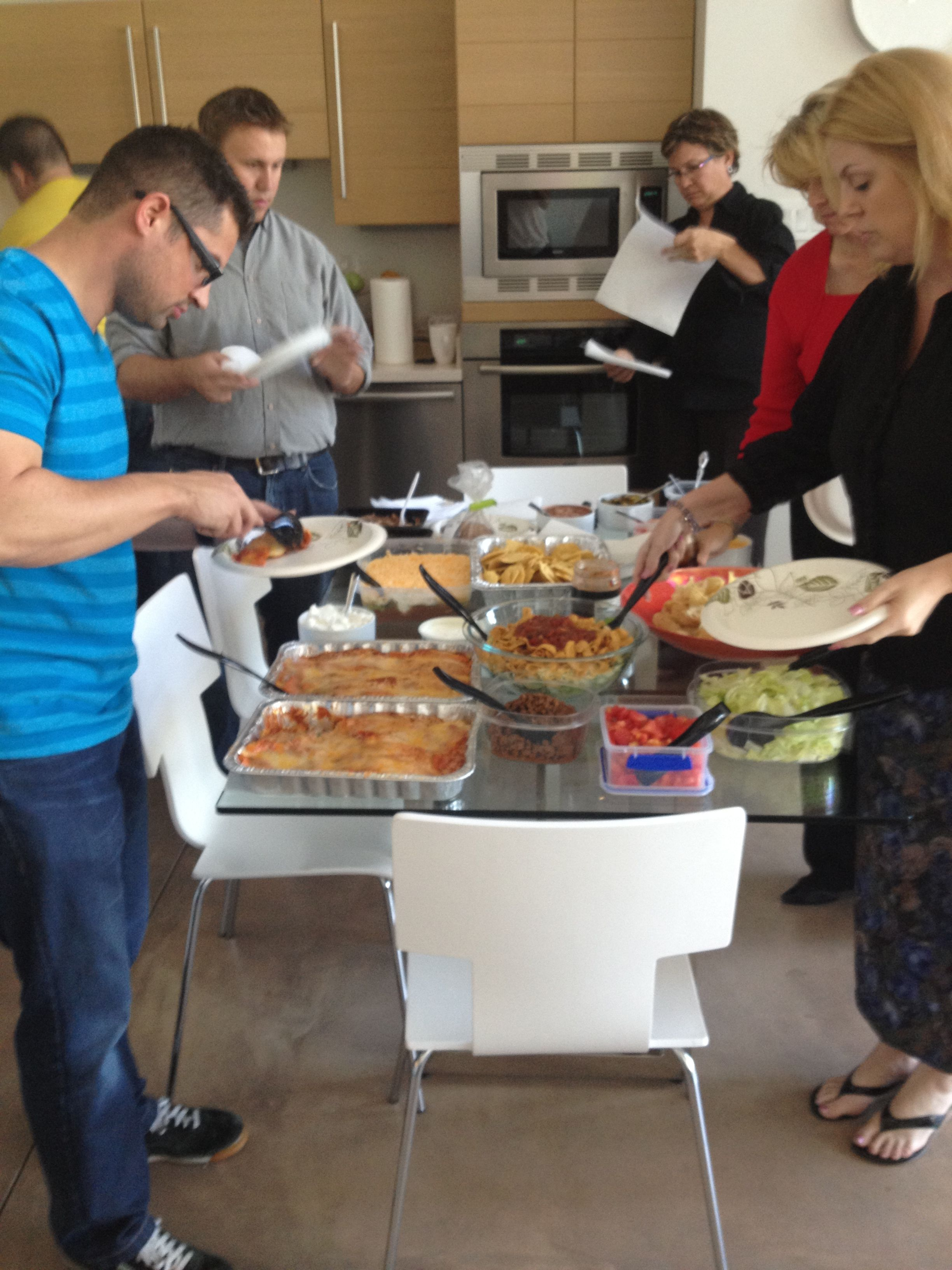 Classroom Potluck Ideas ~ We had a mexican themed potluck lunch here at the office