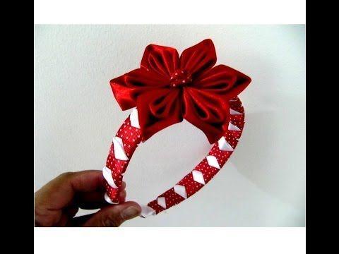 Flores rojas en diademas trenzadas con relieves en cintas para el cabello , YouTube