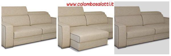 Divano con sedute estraibili fabbrica divani a lissone for Showroom divani milano