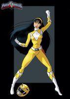 Trini as the Yellow Power Ranger