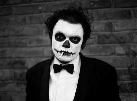 skull makeup for man dayum pinterest skull make up halloween skull and easy halloween. Black Bedroom Furniture Sets. Home Design Ideas