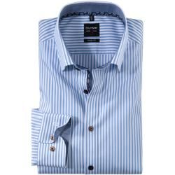 Photo of Olymp Level Five Hemd, body fit, Under-Button-down, Bleu, 43 Olympolymp