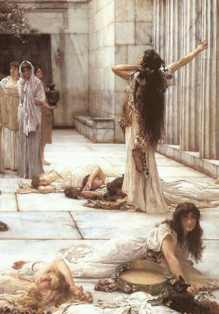 Lawrence Alma-Tadema - The Women of Amphissa, 1887 (detail)