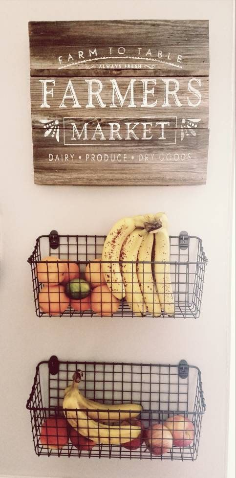 Farmers Market Sign   Wood Sign w/ Optional Fruit Baskets | Etsy