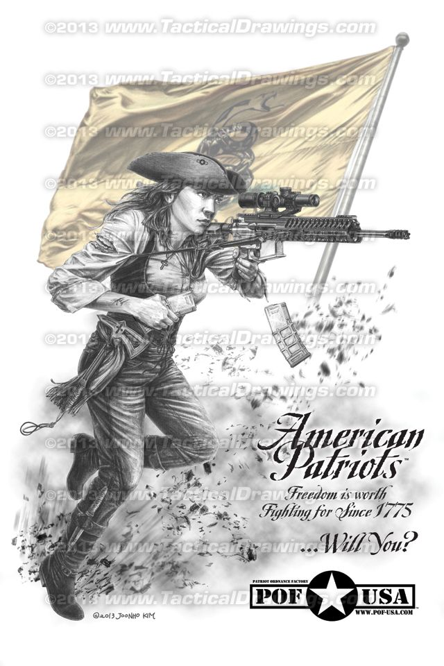 American patriots print by renowned artist jk kim of for American revolutionary war tattoos
