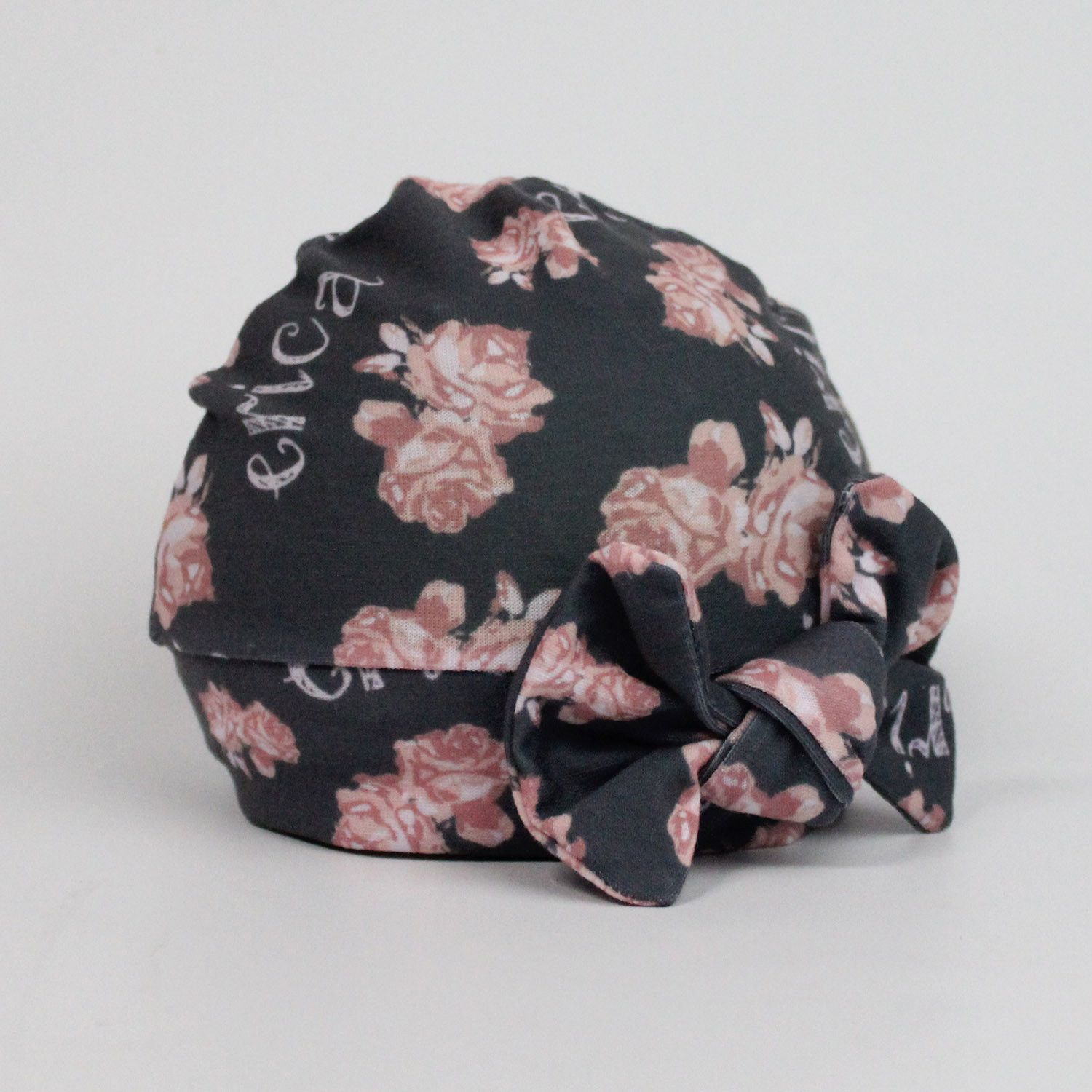 d4660ef54f4 Personalized baby hat or headband - Custom design printed on Jersey Knit  fabric - Vintage Floral