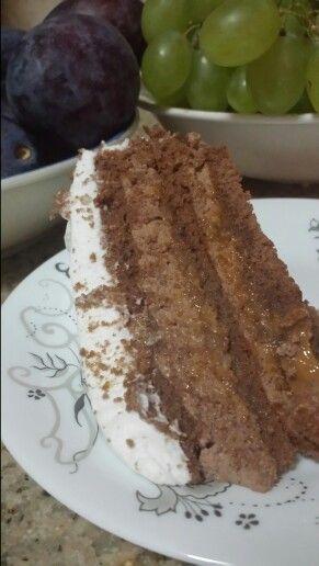 Chocholate caramel cake