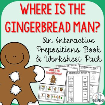 Target prepositions with this Gingerbread Man themed interactive book and worksheets pack! The pack contains an interactive book, worksheets and mini foldable books!