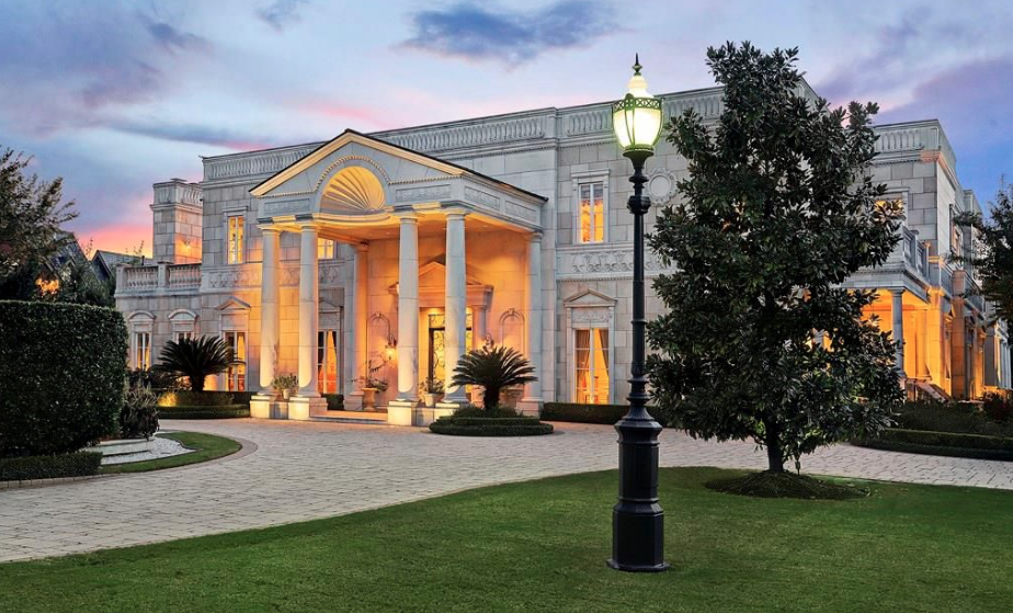 Limestone Mansion In Houston With 2 Story Indoor Pool Mansions