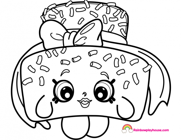 Printable Sprinkle Lee Cake Coloring Page Rainbow Playhouse Coloring Pages For Kids