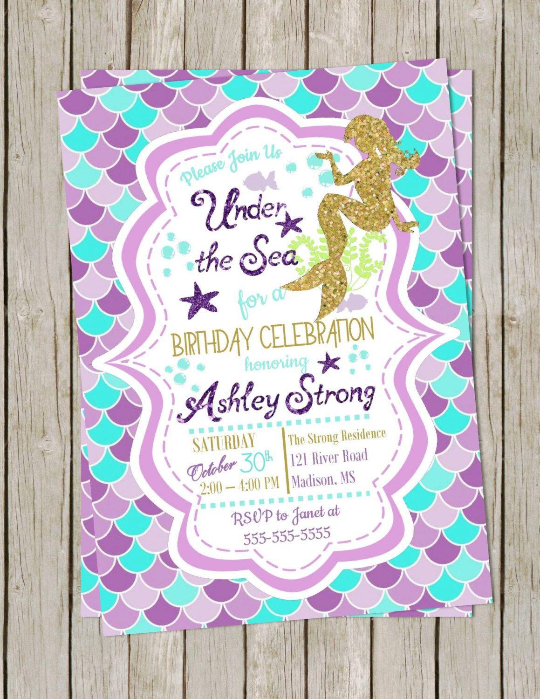 DIY PRINTABLE Birthday Party | Girl Birthday Invitation ...