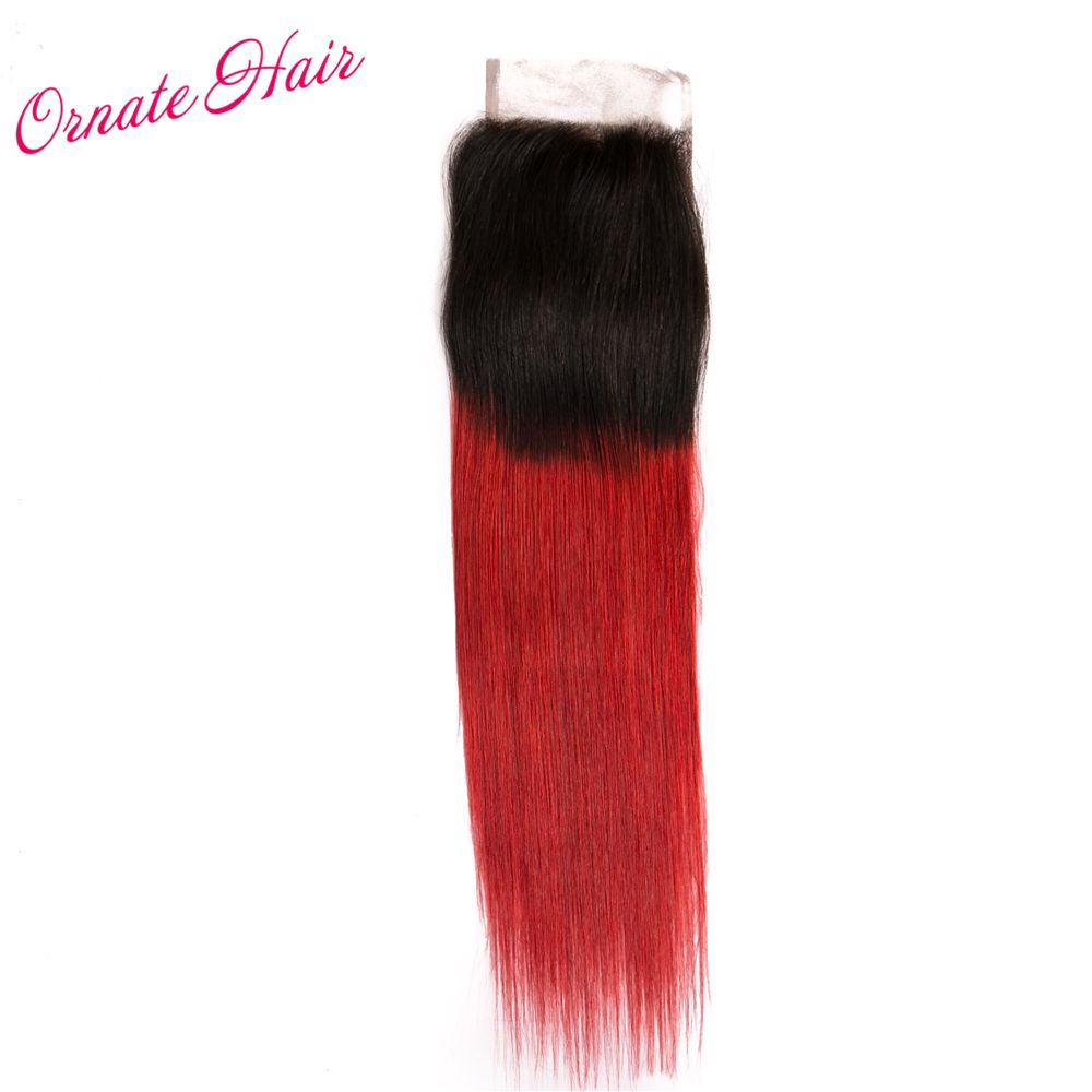 3 Bundles With Closure T1b Red Ombre Straight Hair Bundles With Closure Brazilian Hair Weave Straight Hair Bundles Brazilian Straight Hair Straight Hairstyles