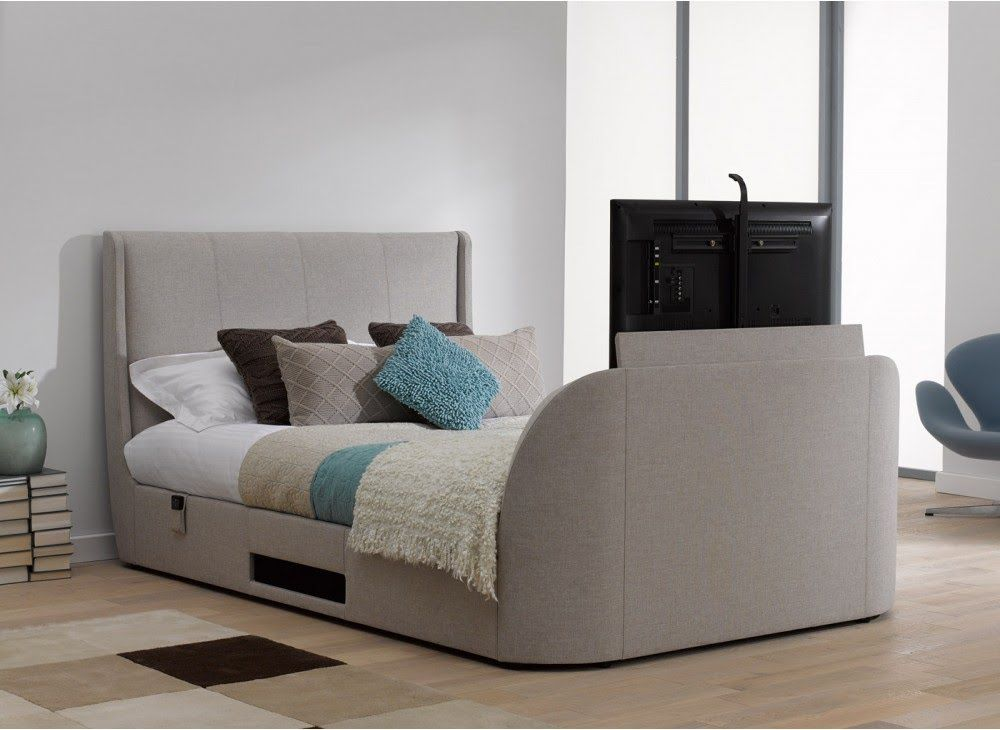 Titanium T3 Tv Bed Frame Stylish Upholstered From Dreams Tv Beds Tv Bed Frame Bed Frame