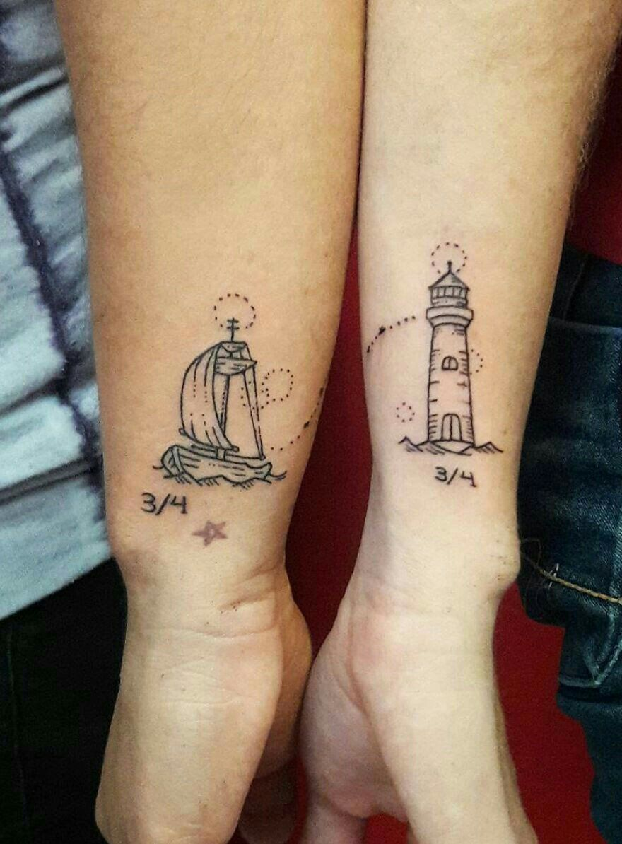 50+ Tiny Couples Matching Tattoos Ideas Best couple tattoos