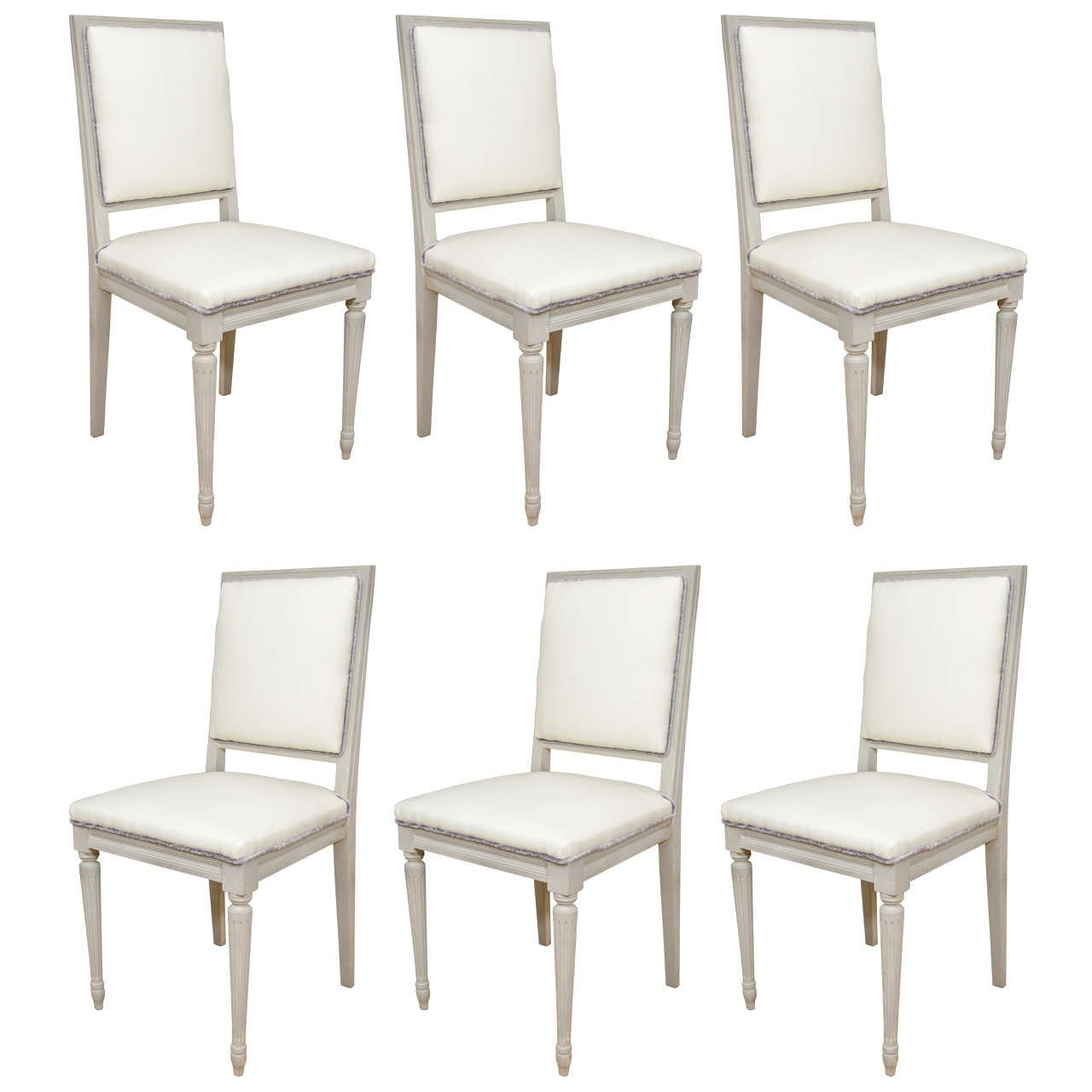 Set Of Louis Xvi Style Dining Chairs From A Unique Collection Of