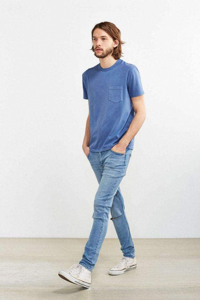 6093abfb4a26c0 Cheap-Mondayスキニージーンズ,ネイビーブルーTシャツ,メンズファッション着こなしコーデ