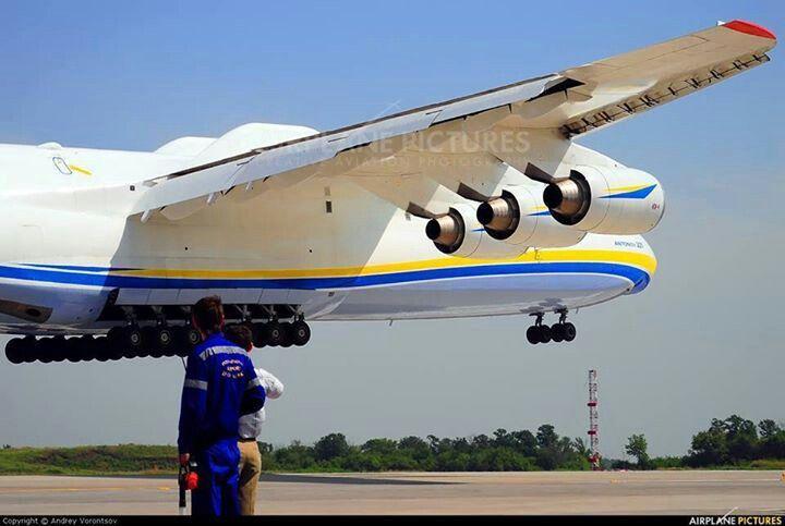 Antonov 225 with 6 engines