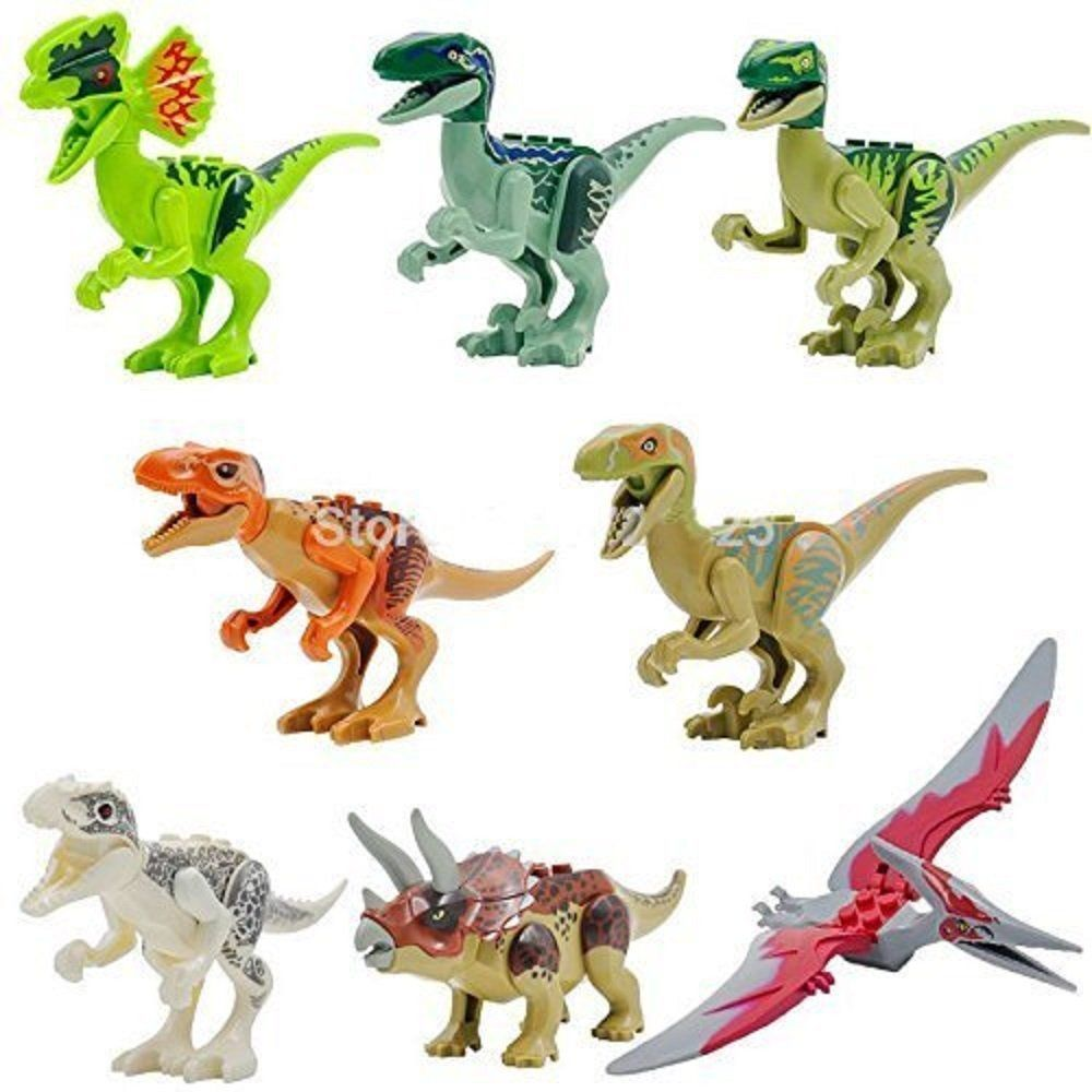 8 PCS Jurassic Park World Dinosaur Set Kids Toy