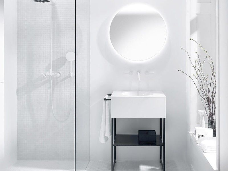 Burgbad Coco Waschtisch mit Unterschrank und Fußgestell Bild 1 bad - badezimmer waschbecken mit unterschrank