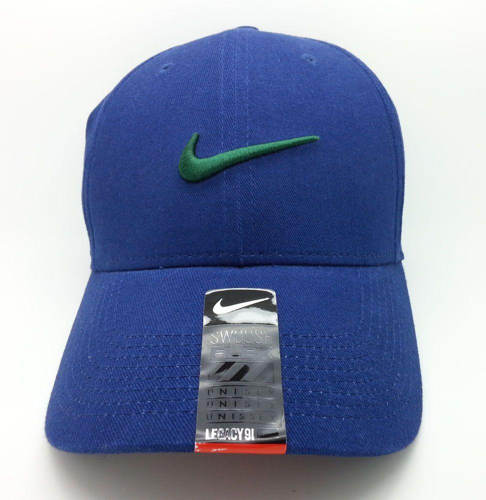 1e8180e365a NIKE LEGACY 91 ADULT UNISEX SWOOSH FLEX NAVY BLUE HAT CAP (ONE SIZE) -- NEW   Nike  BaseballCap