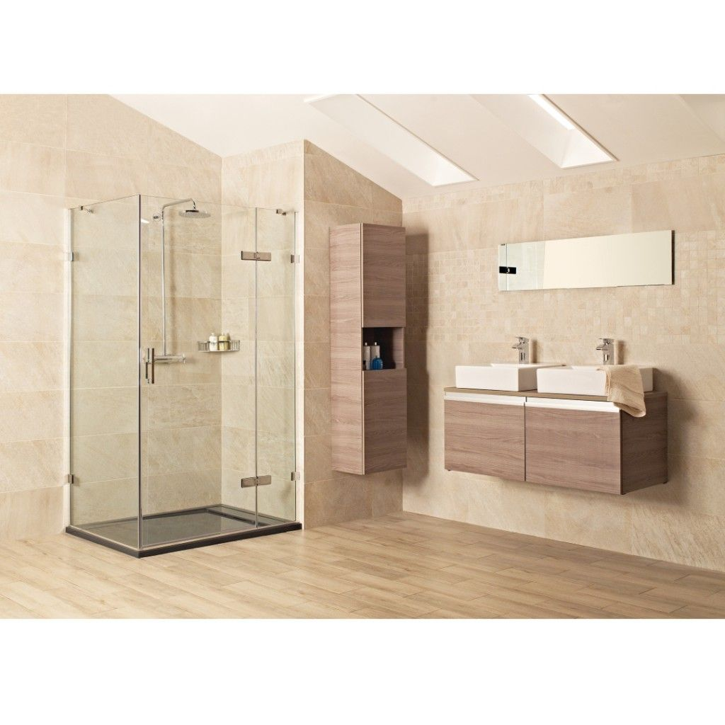 Roman Showers Liber8 Hinged Door With Hinged In Line Panel