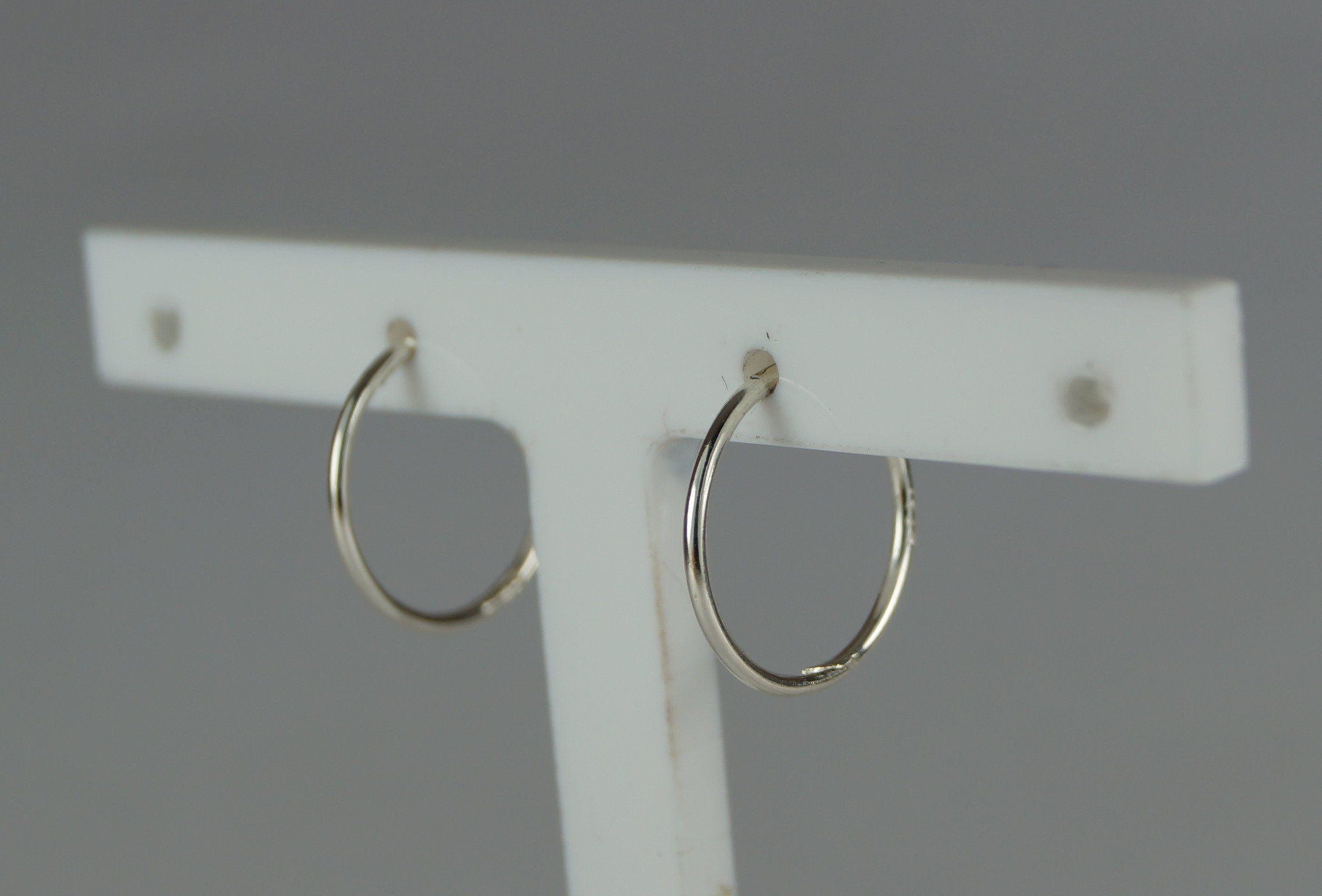 461be5d39 Small 13mm Hinged Hoop/Sleeper Earrings. Sterling Silver 925 earring. Silver  hoop/