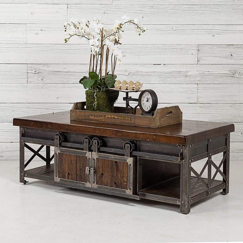 Rolling Barn Door Coffee Table Door Coffee Tables Barn Door