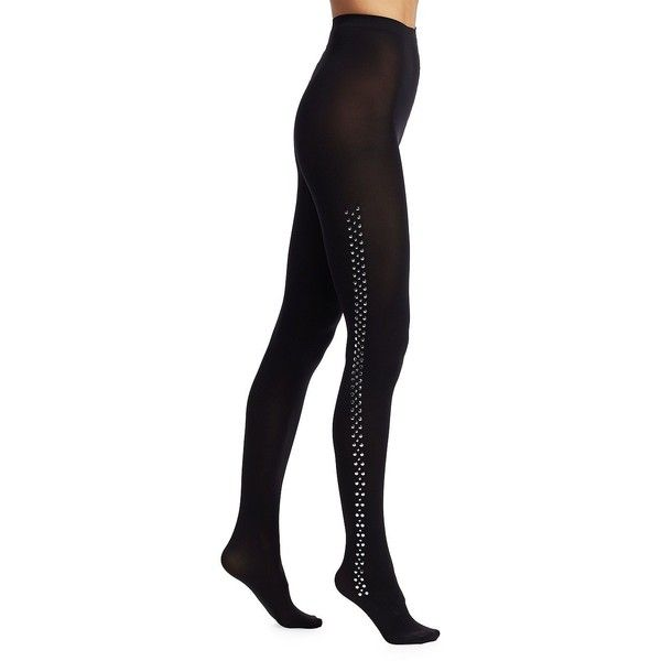 Wolford Roxanne Stud Tights ($120) ❤ liked on Polyvore featuring intimates,  hosiery,