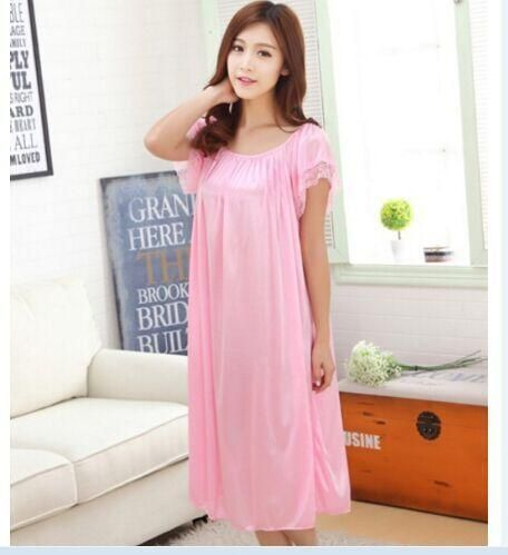 Sleep Wear Night Suits For Ladies With Lace Solid Female Long Sleeved And Shorts